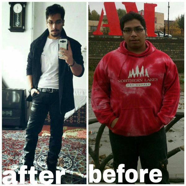 رکورد کاهش وزن ۴۶ کیلویی مسعود محمدیان